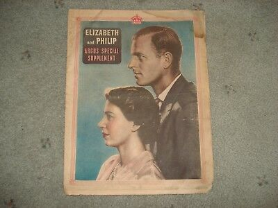 1951 Argus Special Ed Queen Elizabeth & Prince Philip Royal Family 16 Pg Humber