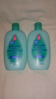 JOHNSON'S Soothing Vapor Bath 15 oz (Pack of 2) Baby Soothing Vapor Bath