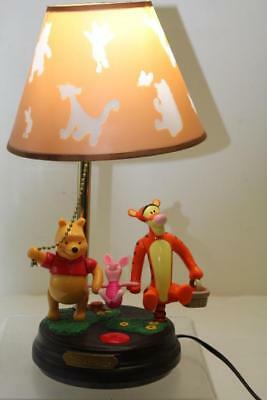 Disney Winnie The Pooh and Friends Piglet and Tigger Animated Talking Lamp