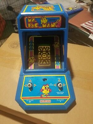 Vtg 1981 Coleco Midway Ms. Pac-Man Tabletop Arcade Electronic Game No.2395 WORKS