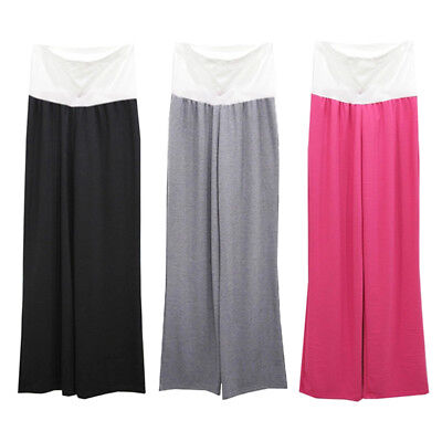 Maternity Casual Yoga Pants Women Pregnant Modal Soft Wide Leg Trousers