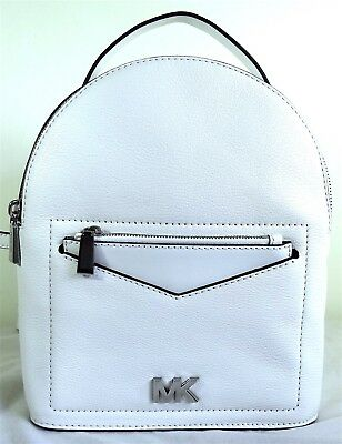 6e73411ca5e6 Michael Michael Kors Jessa White Pebbled Leather Small Comvertible Backpack