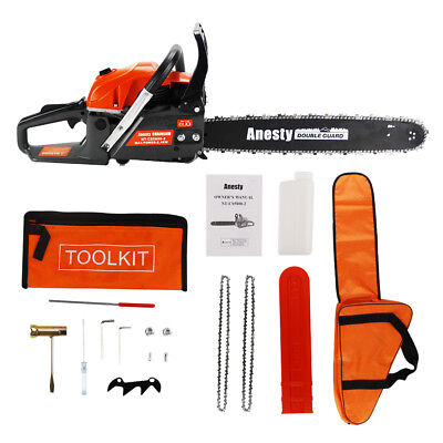 "58 CC 2-Stroke Petrol Chainsaw Easy Start 20-inch E-Start Chain Saw 20"" Tool Kit"
