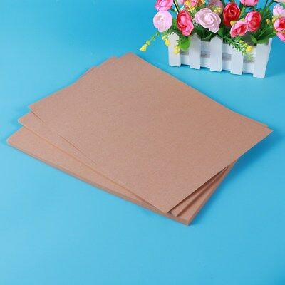 50x A4 180g Coffee Kraft Thick Paper Sheet Natural Recycled Invitation Wedding