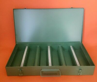 Hanimex 2 x 2 Slide Cabinet Holds 150 slides -Metal- Made in Australia. As new