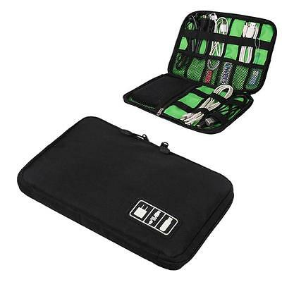 Travel Digital Electronic Accessory Case Cable USB Drive Insert Organizer Bag GA