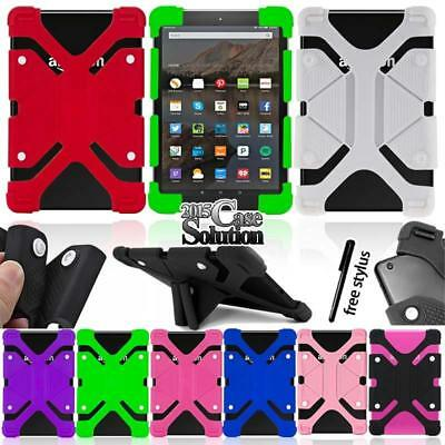 Bumper Silicone Stand Cover Case For Amazon Kindle Fire 7 inch Tablet + Stylus
