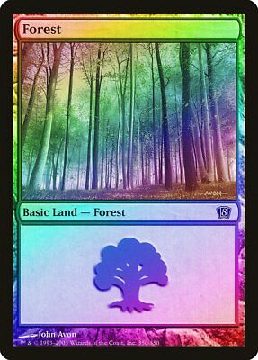 FOIL 8th Edition NM-M Basic Land MAGIC THE GATHERING CARD ABUGames Forest 350