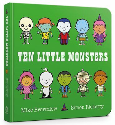 Ten Little Monsters Board Book By Mike Brownlow NEW