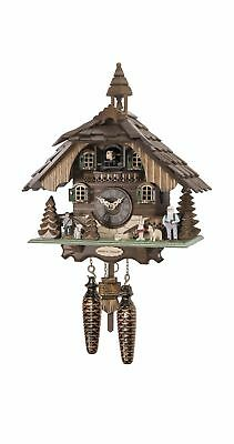 Quartz Cuckoo Clock Heidi house with music EN 4443 QM NEW