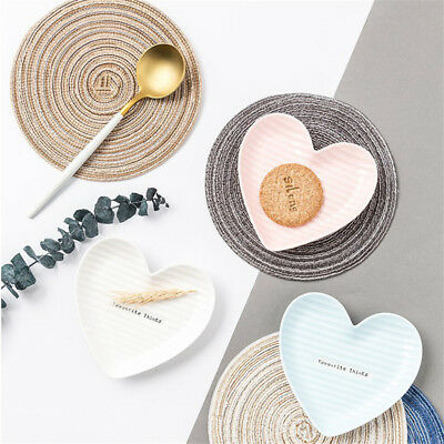 Round Placemats Table Insulation Pad Linen Table Mat Kitchen Accessories