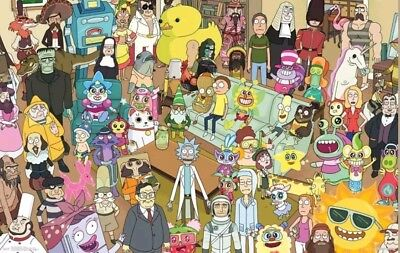 RICK AND MORTY - CHARACTER COLLAGE POSTER 22x34 - TV SHOW 15461 (dd)