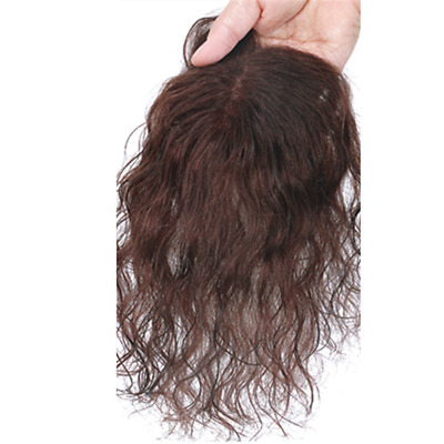 Beauty Natural Wavy Mono Topper Hair Piece Human Hair Clip in Toupee For Women