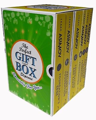 Isaac Asimov Collection Foundation Series 6 Books Gift Wrapped Box Set BRAND NEW