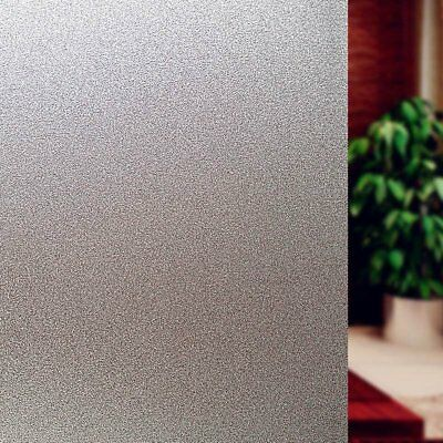 Bloss Etched Privacy Window Film Decorative Non Adhesive Glass Contact Paper