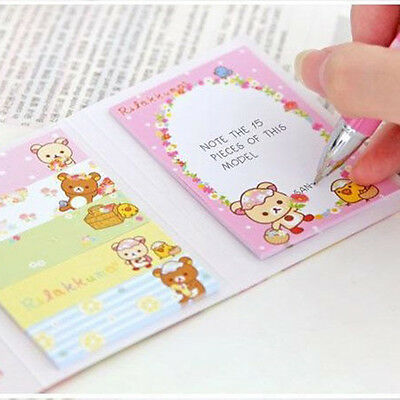 Lovely Rilakkuma Sticker Paste Marker Memo Flag Index Tab Sticky Notell:)