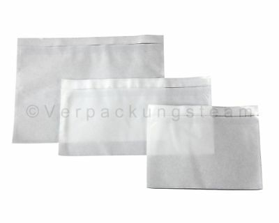Docufix Delivery Note Pockets Unprinted Transparent Selbstkl. Din Long 240x110mm