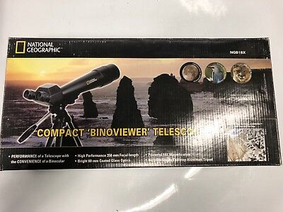 National Geographic 18x Compact Binoviewer Telescope NGB18X