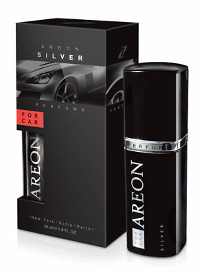 Areon SILVER 50ml Car Air Freshener Quality Perfume + Free Gift
