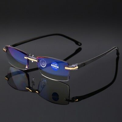 New Diamond Trimming Glasses Anti Blue Light Frameless Glasses Reading Glasses