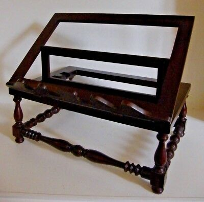 A Fine Large Bible Book Rest Music Picture Art Picture Display Table Top Stand