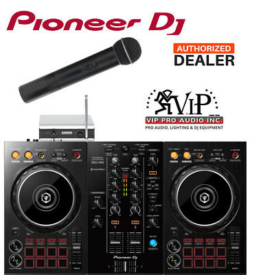 Pioneer DDJ-400 2-Channel DJ Controller w/ REKORDBOX + Samson Wireless Mic V166