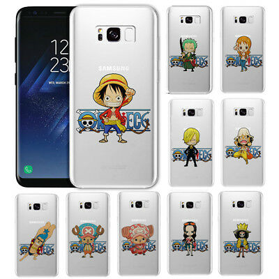 Anime ONE-PIECE Clear TPU/Hard Phone Case Cover For Samsung S5/ S6/7E S8/S9 Plus