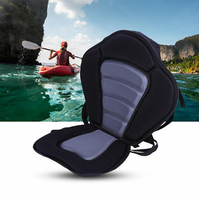 New Adjustable Kayak Padded Seat+Detachable Canoe Backrest Back Bag Seat HOT