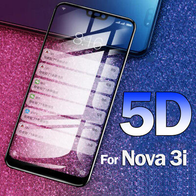 5D Temper Glass For Huawei Nova3i Y6 2018 Screen Protector Protective Glass Film