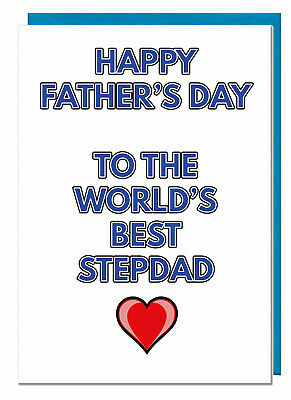 Stepdad Fathers Day Card - Happy Father's day To The Worlds Best stepdad (Love)