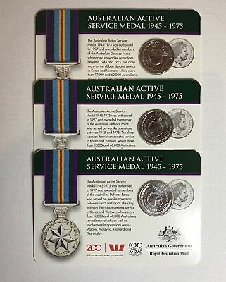 2017 1945-1975 Service Medal 20c Coin - Legends of the Anzacs Collection