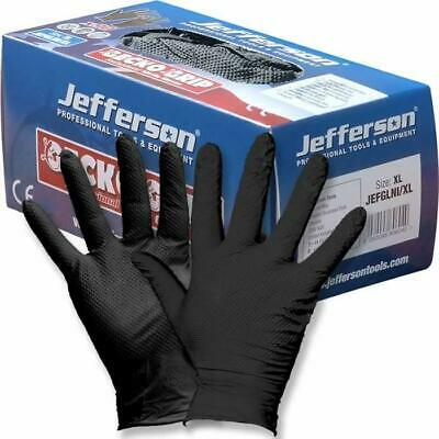 Jefferson Gecko Grip Professional Nitrile Gloves x90 sz 9 large