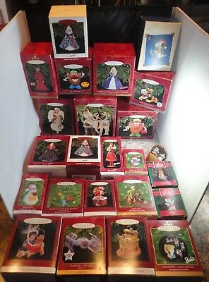 Large Lot of 25 HALLMARK Ornaments ~ Barbie/Mickey/Snoopy ~ Many More!