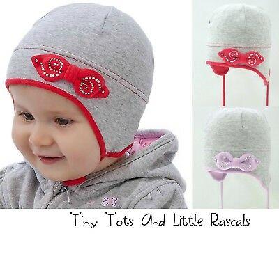Infant Girls Toddlers Spring Autumn Cotton Elastic Hat Size 9 - 12 mths