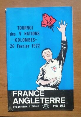 France v England, 26/02/1972 - Five Nations Match Programme.