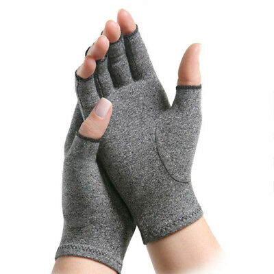Fingerless Gloves Anti Arthritis Copper Compression Therapy Circulation Improves