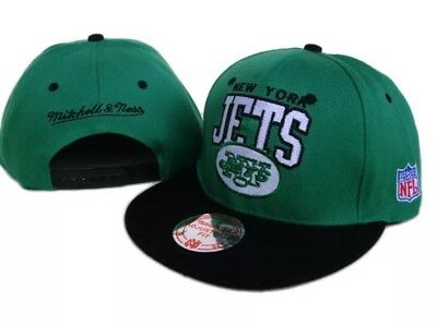 48845698edfaab New New York Jets Mitchell & Ness NFL Vintage Collection Cap Hat Green Black