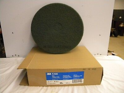 "5 New Geniune 3M Blue Cleaner Pads 5 Pads in Box 20"" 3M 5300 Floor Machine"