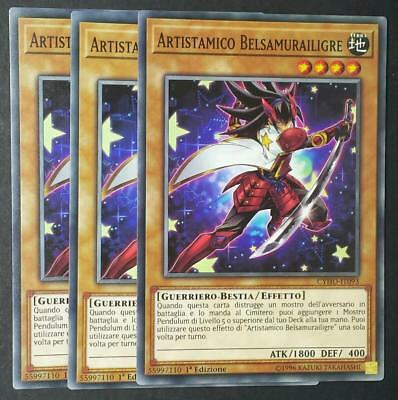 ARTISTAMICO BELSAMURAILIGRE Comune in Italiano CYHO-IT093 YUGIOH Set 3 Carte