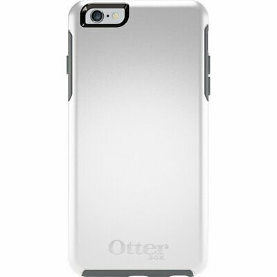 OtterBox Symmetry Series Protective Case for Apple iPhone 6 Plus-White-Excellent