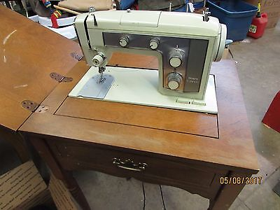 VINTAGE SEARS KENMORE Sewing Machine In Wood Cabinet 4040 PicClick Enchanting Kenmore Sewing Machine Vintage