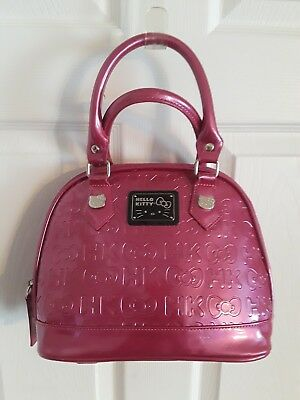 HELLO KITTY LOUNGEFLY Sanrio Patent Leather Embossed Bag (Hot Pink ... fb9880a06f