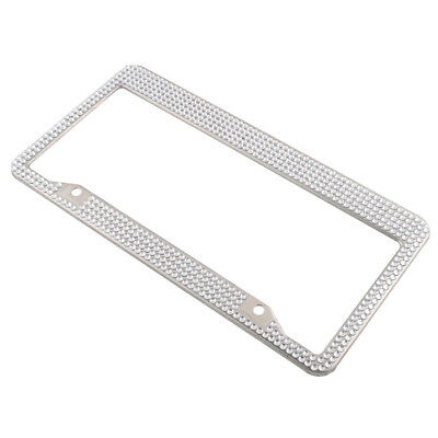 Personal Car Number License Plate Frame Luxury Bling Crystal  for most car types