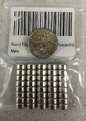 """40 Neodymium Magnets - 1/4"""" x 1/8"""" - N35 Disc Magnets - Crafts Hobby 6mm x 3mm"""