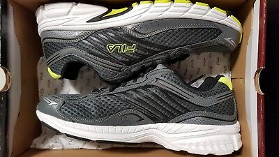 a16dcc1a1d96 Fila Xtenuate Men s Gray Black Yellow Athletic Sneakers UNUSED