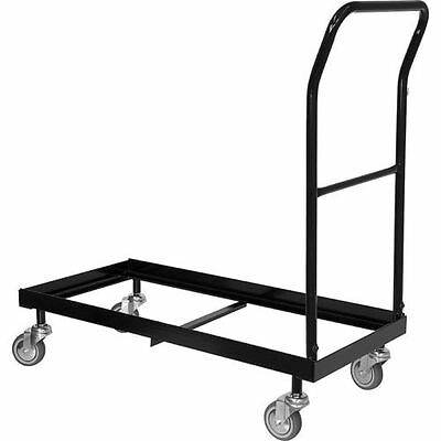 Plastic Folding Chair Cart Storage Dolly / Storage Rollin Transport Cart