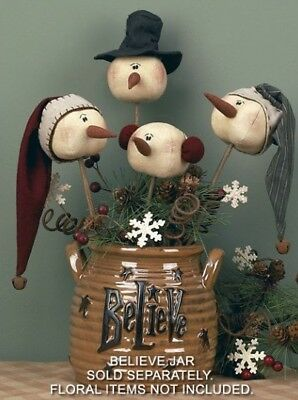 Set of Rustic Whimsy Snowman Wands