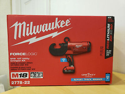 Milwaukee M18 Forcelogic 12T Cordless Utility Crimping Kit 2778-22 100%Authentic