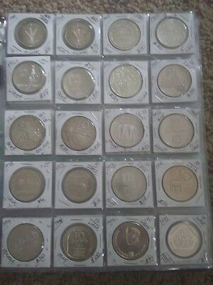SILVER COINS from Israel (20): Rare & Valuable collection, including 500 Prutot.