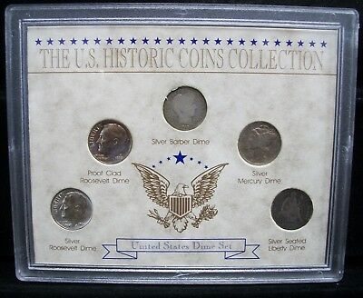 The Us Historic Coins Collection United States Dime Set
